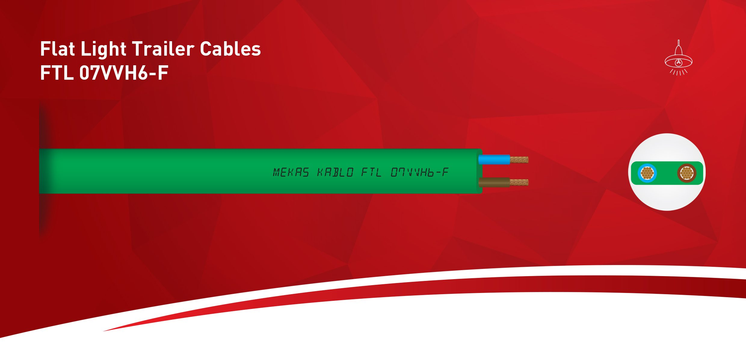 Flat Light Trailer Cables